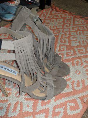 Steve Madden Taupe Fringe Heels for Sale in Rexburg, ID