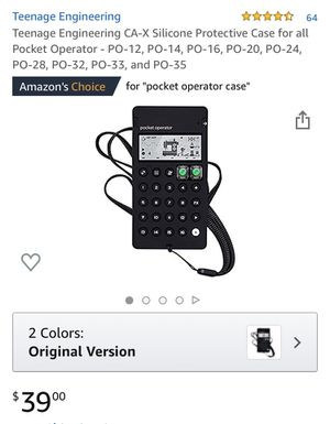 TEENAGE ENGINEERING CA-X SILICONE PROTECTIVE CASE FOR ALL POCKET OPERATOR for Sale in Bakersfield, CA