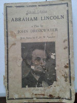 1900's Lincoln school book for Sale in Manton, MI