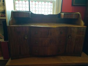 Antique English dressing table with mirror for Sale in Spartanburg, SC