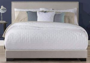 Beige Studded Upholstered Queen-Size BED FRAME BRAND NEW IN BOX for Sale in Westminster, CO