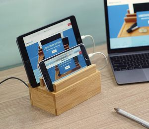 Firm Price! Brand New in a Box Wooden Charging Station with 4 Charging Ports, Located in North Park for Pick Up/Shipping! ELECTRONICS NOT INCLUDED! for Sale in San Diego, CA