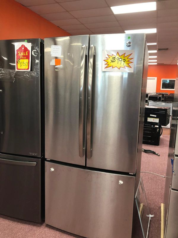 French door refrigerator ge ,brand new ,stainless steel