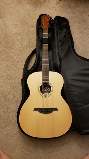 LAG all acoustic guitar with Alvarez thick gig bag - perfect condition for Sale in Atlanta, GA