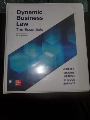 Dynamic Business Law The Essentials Fifth Edition for Sale in Pleasant Hill, CA