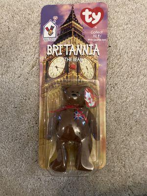 Britannia the bear Ty Beanie Baby with Error on tag for Sale in Arlington, VA
