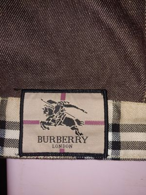Men's Burberry matching brown denim jacket and pants for Sale in Lewisville, NC