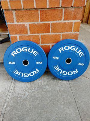 New Rogue 45 lb Bumper Plates for Sale in Newark, CA