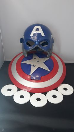 Marvel Superhero Captain America Disk Launching Shield + Mask (2010) for Sale in South Attleboro,  MA