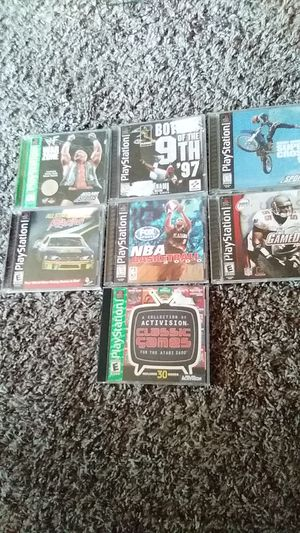 PlayStation 1 and 7 games plus memory card for Sale in Wichita, KS