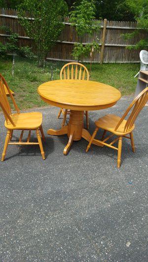 3 piece oak table set for Sale in Danvers, MA