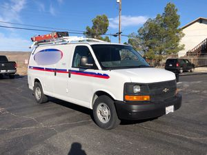 2008 CHEVY EXPRESS CARGO VAN WITH SHELVING AND LATTER RACK RUNS GREAT for Sale in Baldwin Park, CA