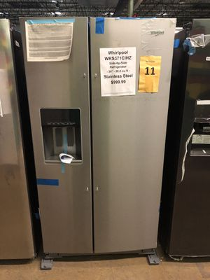 Whirlpool side by side with manufacturers warranty!! for Sale in New Lenox, IL