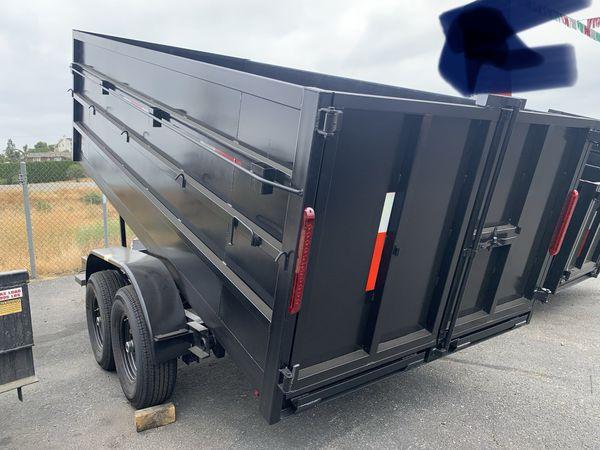 Dump 8x14x4 14000lb / ramps $8595 + tax lic
