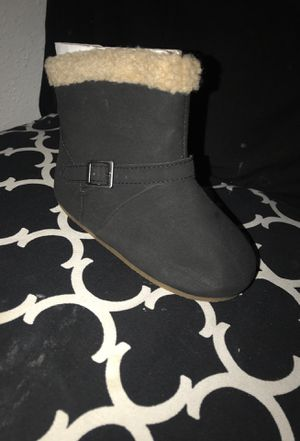 Black baby girl boots for Sale in Hesperia, CA