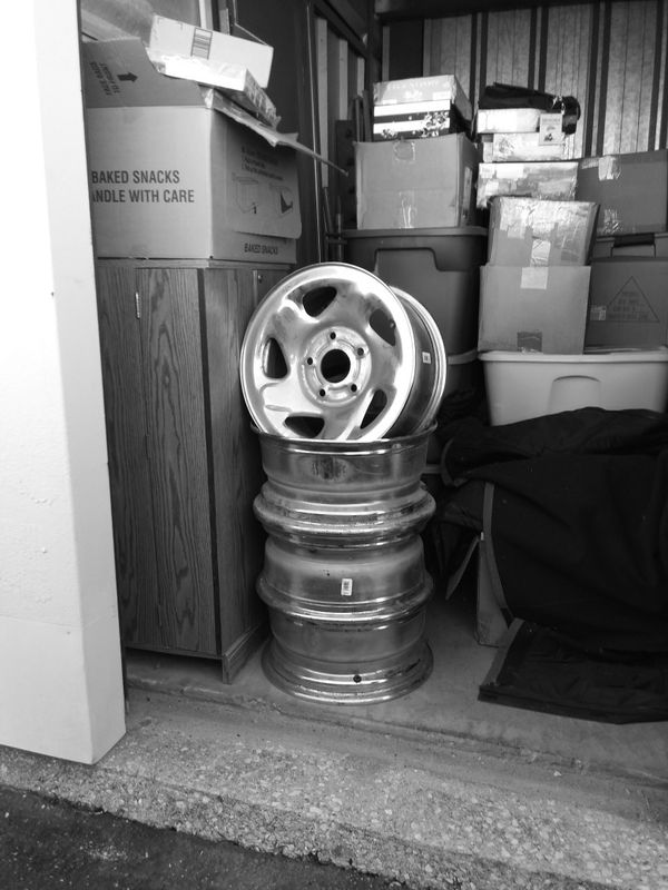 Four newer style Dodge rims chrome