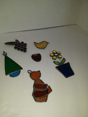 6-Vintage Lead Stained Glass Sun Catchers for Sale in Philadelphia, PA