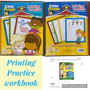 Printing practice activity book for Sale in San Diego, CA