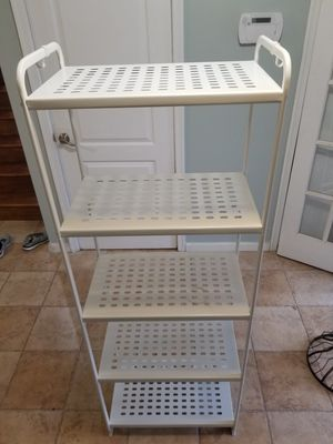 IKEA metal shelving H64xD13xW24 for Sale in Wayne, NJ