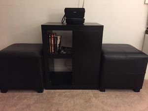 Ottoman + Small Book/TV shelf for Sale in Hicksville, NY