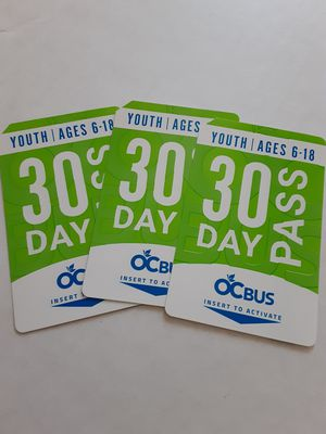30 DAY OCTA YOUTH BUS PASSES for Sale in Santa Ana, CA