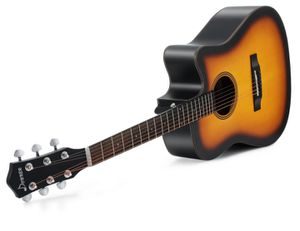 Acoustic Great Quality Donner Cutaway Sunburst Guitar DAG-1S Beginner Guitar Kit With Bag Tuner Strap String Picks for Sale in Washington, DC
