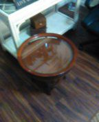 2 solid wood tables with removable glass top for Sale in US