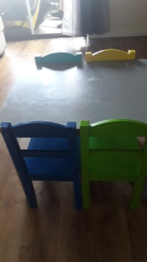 Sturdy wood kids table and chairs for Sale in Kirkland, WA