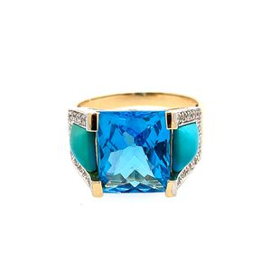 14k Blue Ring for Sale in Alexandria, VA