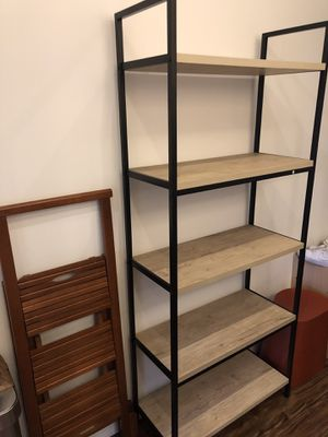 Wood and metal shelf for Sale in Portland, OR