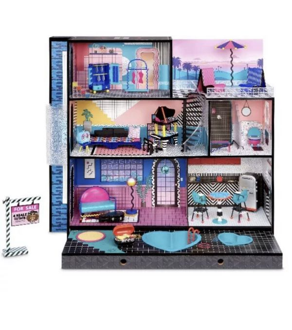 NEW 2020 LOL Surprise OMG Fashion Doll House Real Wood & Furniture