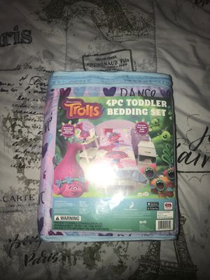 Trolls toddler bedding set sheets for Sale in Irving, TX