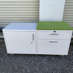 Inscape Metal Storage Credenzas W/ Cushion Tops for Sale in Curtis Bay, MD