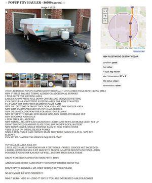 CAMPER w/trailer toy hauler for Sale in Denver, CO