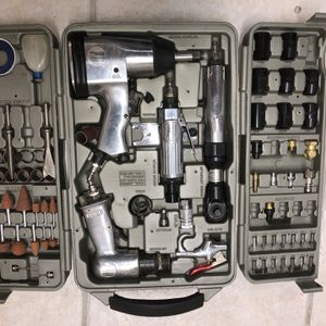Air Operated Tool Kit In Plastic Case For Storage for Sale in Gilbert, AZ