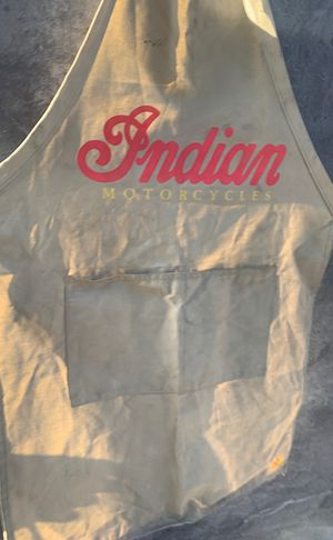 Indian motorcycle work apron for Sale in Rancho Cucamonga, CA