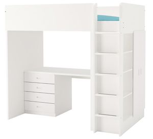 Stuva Twin Loft Bed with 4 drawers/ 2 blue doors for Sale in New York, NY