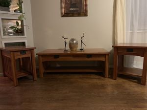 Real wood end tables set for Sale in Corning, CA