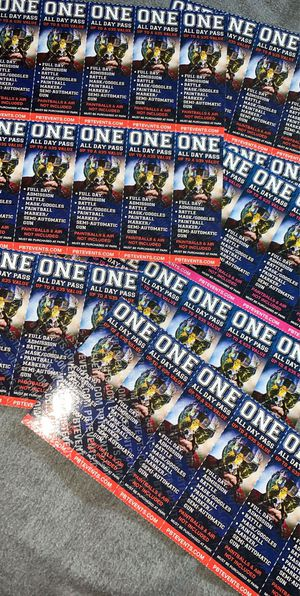35$ paint ball tickets for 30$ for Sale in Hayward, CA