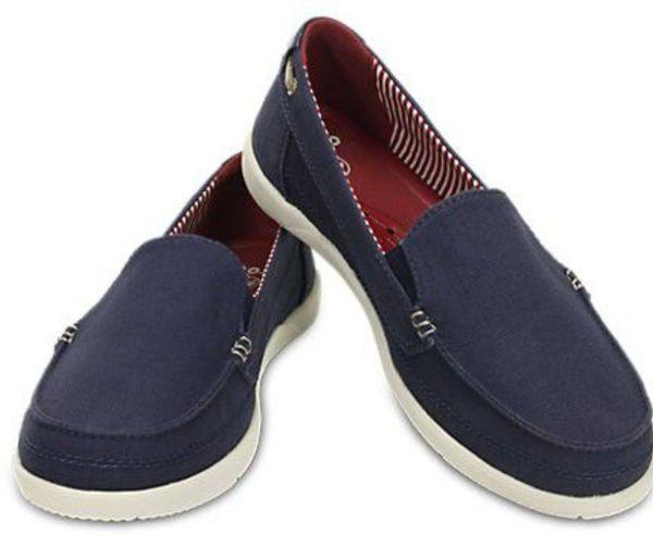 Women's Walu Canvas Loafer Crocs Shoes W7