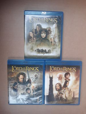 Lords of the Rings Tri Set Blu-Ray Movies for Sale in Irving, TX