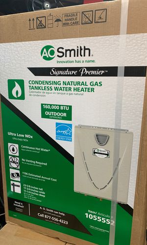 AO SMITH Condensing Natural Gas Tankless Water Heater for Sale in San Francisco, CA