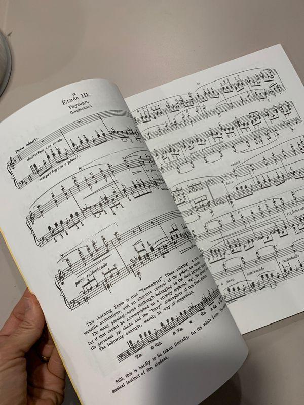 Liszt Douze Etudes. For piano. Like new