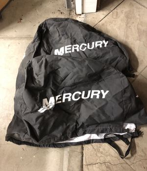 (2) Mercury Outboard Engine / Motor Covers - Black, Breathable for Sale in Seal Beach, CA