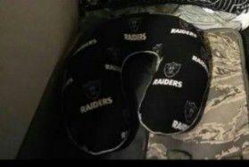 Oakland Raiders memory foam neck pillow