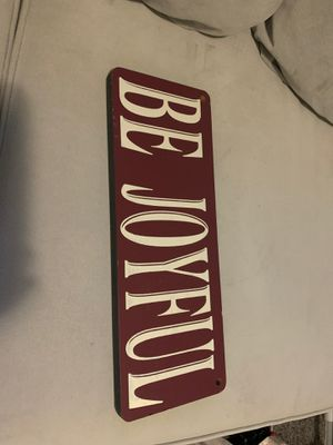 Be joyful sign for Sale in Puyallup, WA