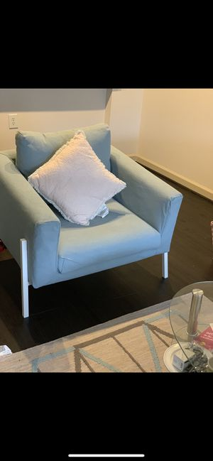 Ikea armchair. Cover sheets are washable and can be changed to a new color from ikea. for Sale in Fairfax, VA