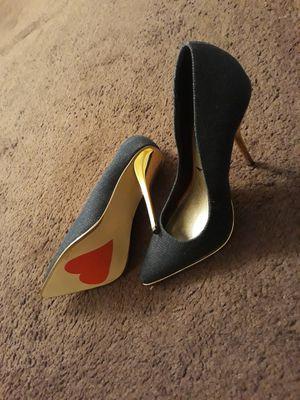 Luichiny Denim heels (never worn, brand new) for Sale in Nashville, TN
