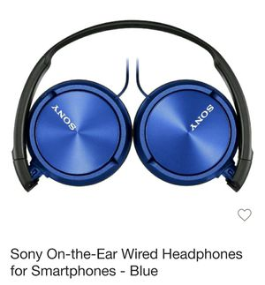 Sony on-the-ear wired headphones. Blue/black for Sale in Philadelphia, PA