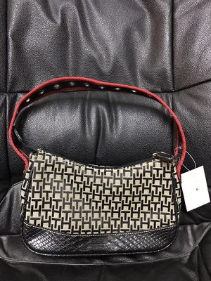 Tommy Hilfiger TH Logo Jacquard Navy Khaki soho mini soft Hobo Purse Bag NWTBrand new with Tommy Hilfiger Tag  It has partial black crocodile leather for Sale in Murfreesboro, TN